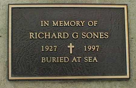 SONES, RICHARD G. - Jones County, Iowa   RICHARD G. SONES