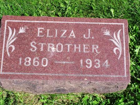STROTHER, ELIZA J - Jones County, Iowa   ELIZA J STROTHER
