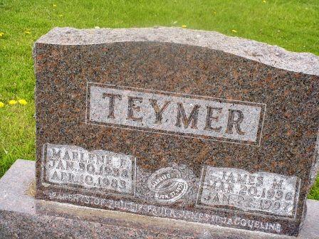 TEYMER, MARLENE F - Jones County, Iowa   MARLENE F TEYMER