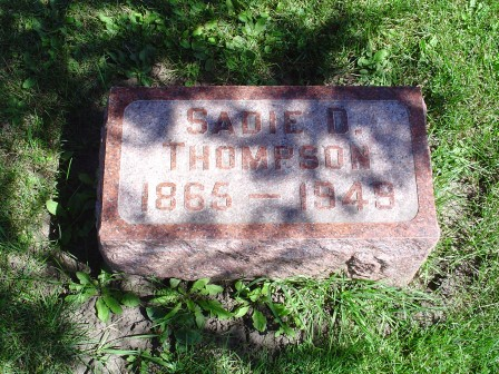 THOMPSON, SADIE D - Jones County, Iowa | SADIE D THOMPSON