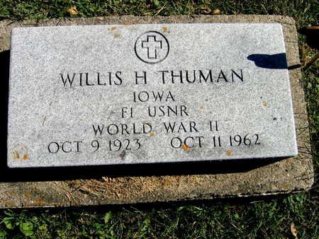 THUMAN, WILLIS H. - Jones County, Iowa | WILLIS H. THUMAN