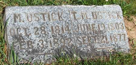 USTICK, T.M. - Jones County, Iowa   T.M. USTICK