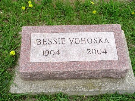 VOHOSKA, BESSIE - Jones County, Iowa   BESSIE VOHOSKA