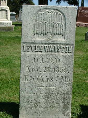 WALSTON, LEVEN - Jones County, Iowa   LEVEN WALSTON