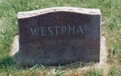BENADOM WESTPHAL, ALICE FAITH - Jones County, Iowa | ALICE FAITH BENADOM WESTPHAL
