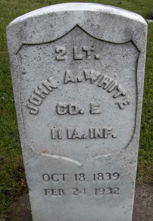 WHITE, LT. JOHN A. - Jones County, Iowa   LT. JOHN A. WHITE