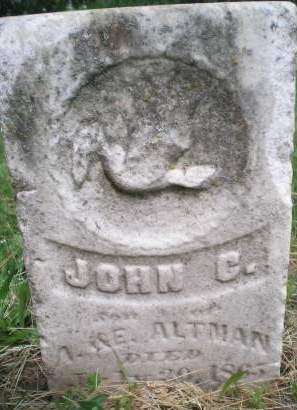 ALTMAN, JOHN GEORGE - Keokuk County, Iowa | JOHN GEORGE ALTMAN
