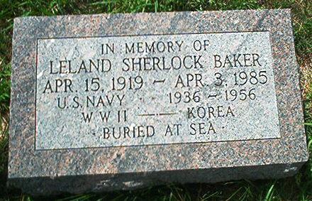 BAKER, LELAND SHERLOCK - Keokuk County, Iowa | LELAND SHERLOCK BAKER