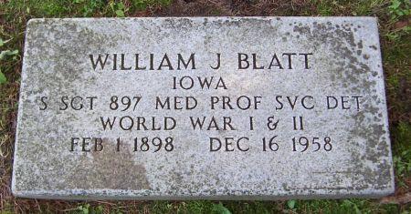 BLATT, WILLIAM J. - Keokuk County, Iowa   WILLIAM J. BLATT