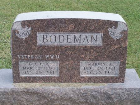 BODEMAN, MARVIN J. - Keokuk County, Iowa | MARVIN J. BODEMAN