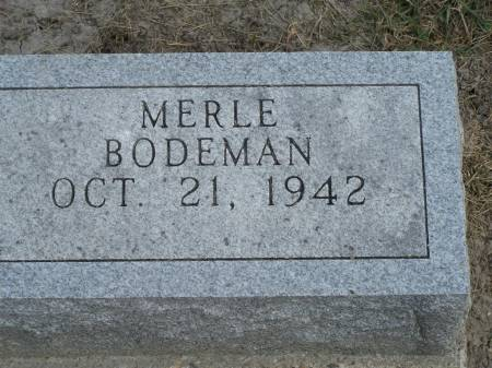 BODEMAN, MERLE - Keokuk County, Iowa | MERLE BODEMAN