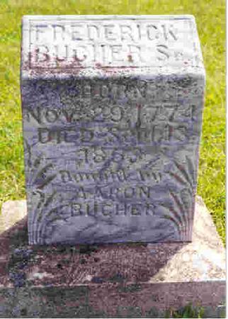 BUCHER, SR, FREDERICK - Keokuk County, Iowa   FREDERICK BUCHER, SR