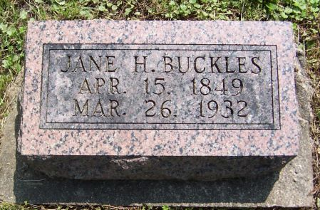 BUCKLES, JANE H. - Keokuk County, Iowa | JANE H. BUCKLES