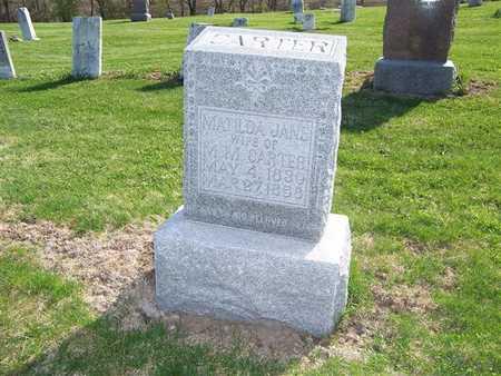 CARTER, MATILDA JANE - Keokuk County, Iowa   MATILDA JANE CARTER