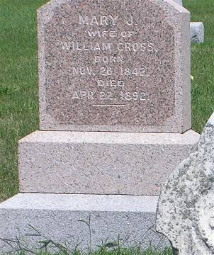 CROSS, MARY J. - Keokuk County, Iowa | MARY J. CROSS