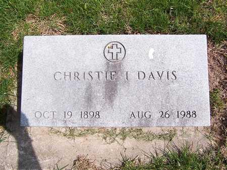 INGLE DAVIS, CHRISTIE I - Keokuk County, Iowa | CHRISTIE I INGLE DAVIS