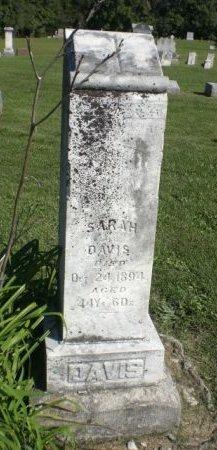 DAVIS, SARAH ANN - Keokuk County, Iowa | SARAH ANN DAVIS