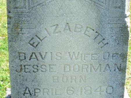 DORMAN, ELIZABETH ANN - Keokuk County, Iowa | ELIZABETH ANN DORMAN