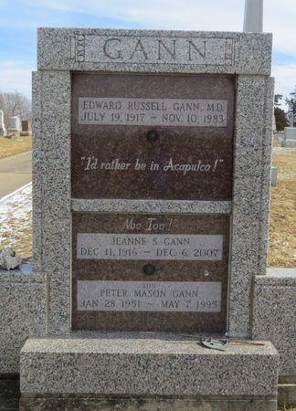 GANN, JEANNE S. - Keokuk County, Iowa | JEANNE S. GANN
