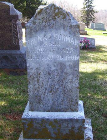 GORMAN, THOMAS - Keokuk County, Iowa   THOMAS GORMAN
