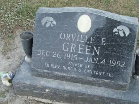 GREEN, ORVILLE F. - Keokuk County, Iowa   ORVILLE F. GREEN