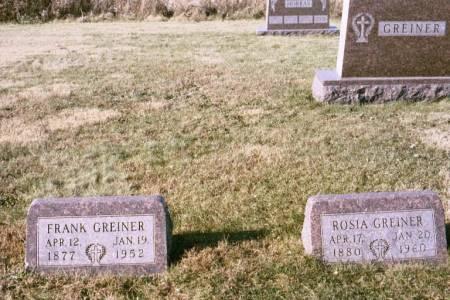 GREINER, ROSIA - Keokuk County, Iowa | ROSIA GREINER