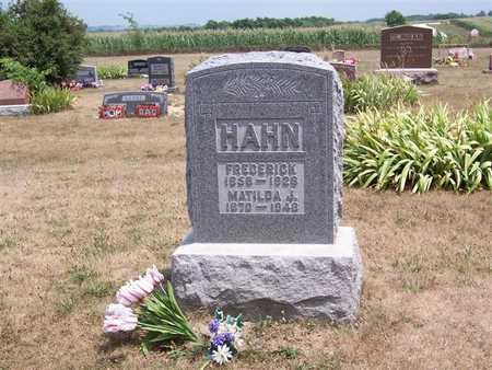 HAHN, MATILDA J. - Keokuk County, Iowa | MATILDA J. HAHN