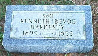 HARDESTY, KENNETH  DEVOE - Keokuk County, Iowa | KENNETH  DEVOE HARDESTY