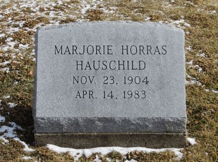 HORRAS HAUSCHILD, MARJORIE - Keokuk County, Iowa   MARJORIE HORRAS HAUSCHILD