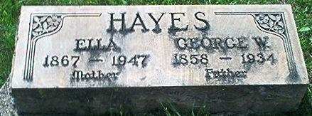 HAYES, GEORGE W. - Keokuk County, Iowa | GEORGE W. HAYES