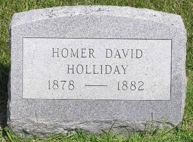 HOLLIDAY, HOMER DAVID - Keokuk County, Iowa | HOMER DAVID HOLLIDAY