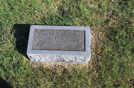 HUBBELL, ALBERT E - Keokuk County, Iowa   ALBERT E HUBBELL
