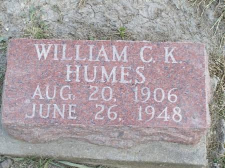 HUMES, WILLIAM C. K. - Keokuk County, Iowa | WILLIAM C. K. HUMES