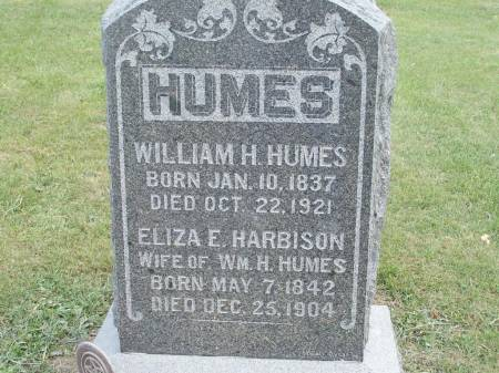 HARBISON HUMES, ELIZA E. - Keokuk County, Iowa | ELIZA E. HARBISON HUMES
