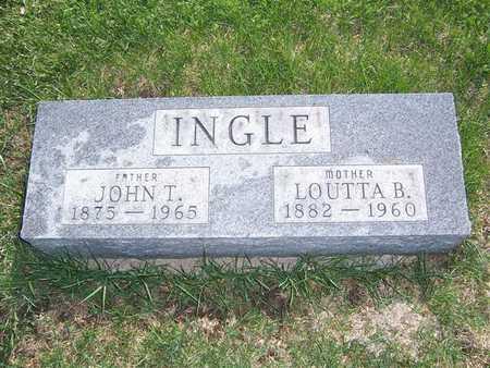 INGLE, LOUTTA B. - Keokuk County, Iowa | LOUTTA B. INGLE