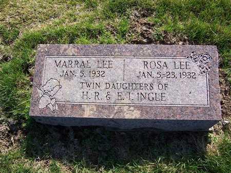 INGLE, MARRAL LEE - Keokuk County, Iowa | MARRAL LEE INGLE