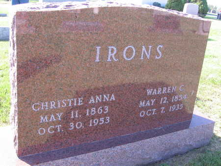 IRONS, CHRISTIE ANNA - Keokuk County, Iowa | CHRISTIE ANNA IRONS