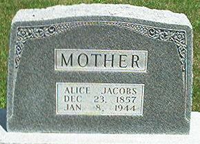 JACOBS, ALICE - Keokuk County, Iowa   ALICE JACOBS
