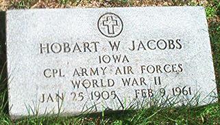 JACOBS, HOBART W. - Keokuk County, Iowa | HOBART W. JACOBS