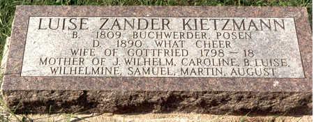 ZANDER KIETZMANN, LUISE - Keokuk County, Iowa | LUISE ZANDER KIETZMANN