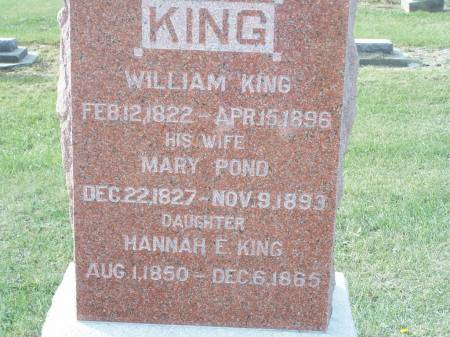 KING, HANNAH E. - Keokuk County, Iowa | HANNAH E. KING