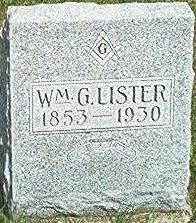 LISTER, WILLIAM G. - Keokuk County, Iowa   WILLIAM G. LISTER