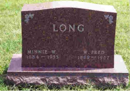 WILKENING LONG, MINNIE - Keokuk County, Iowa | MINNIE WILKENING LONG