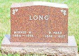 WILKENING LONG, MINNIE W. - Keokuk County, Iowa | MINNIE W. WILKENING LONG