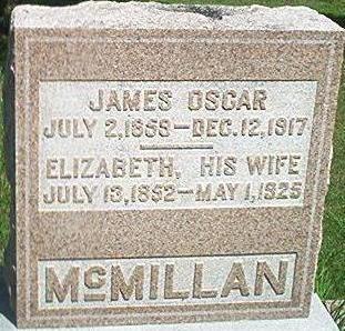 MCMILLAN, JAMES OSCAR - Keokuk County, Iowa   JAMES OSCAR MCMILLAN