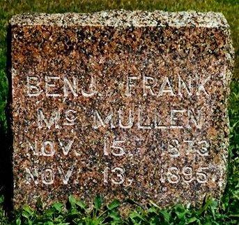 MCMULLEN, BENJ. FRANK - Keokuk County, Iowa | BENJ. FRANK MCMULLEN