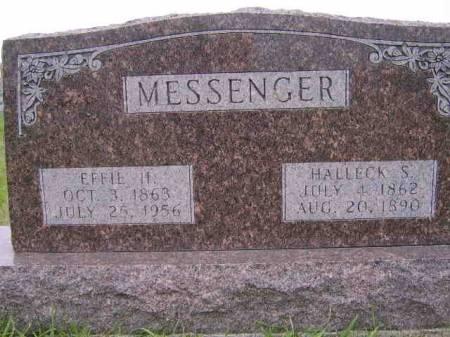 HIGGINS MESSENGER, EFFIE - Keokuk County, Iowa | EFFIE HIGGINS MESSENGER