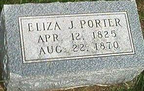 PORTER, ELIZA J. - Keokuk County, Iowa   ELIZA J. PORTER