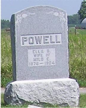 POWELL, ELLA B. - Keokuk County, Iowa | ELLA B. POWELL