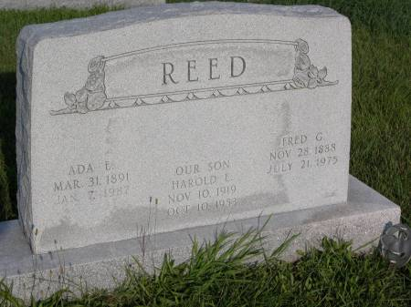 REED, FRED G. - Keokuk County, Iowa | FRED G. REED